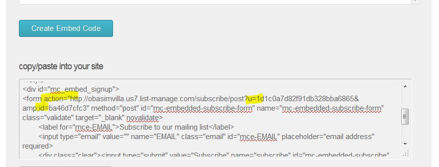 making your mailchimp signup form work on genesis without a plugin