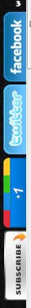 Custom vertical social media icons