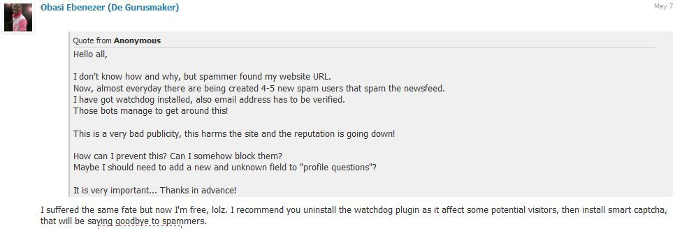 smart captcha comments