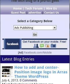 placing mobile adds unit in mobilepress and responsive themes