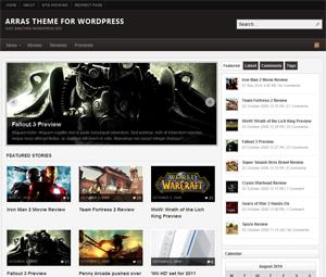 Customizing arras premium wordpress theme
