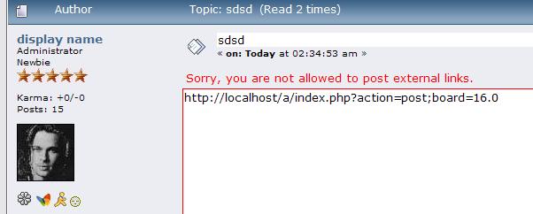 stop smf forum link spamming