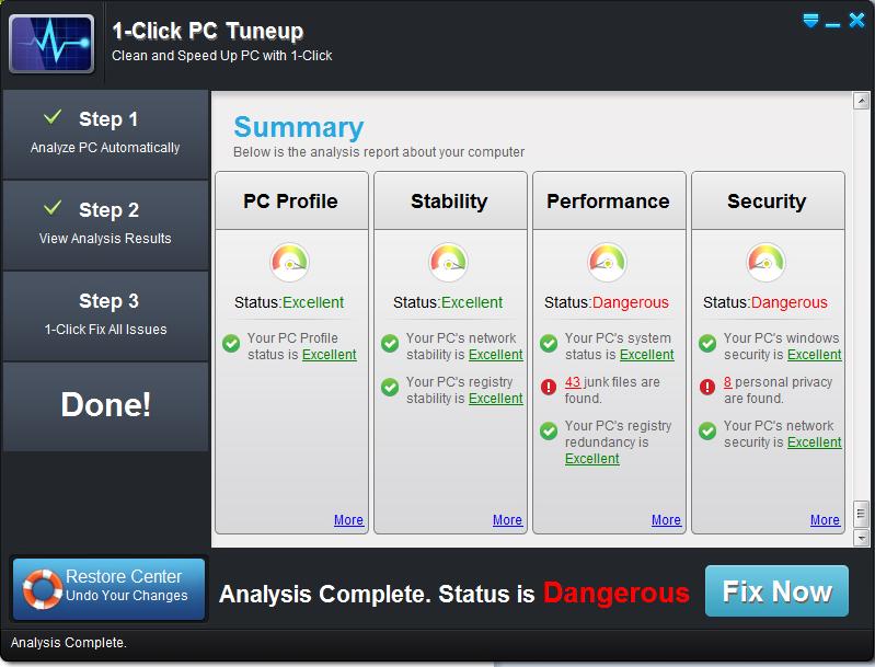 1-click pc tuneup software