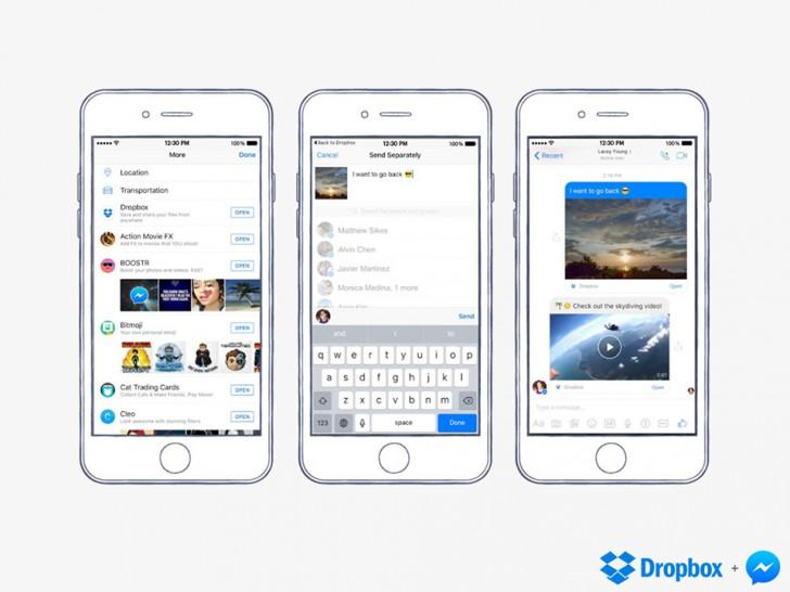Dropbox and Facebook Messenger