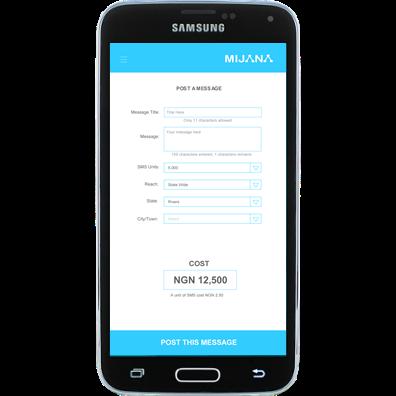 Posting Message in Mijana App