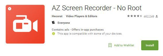 a-z screen recording app for Android