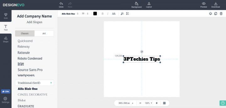DesignEvo Logo Designer software app