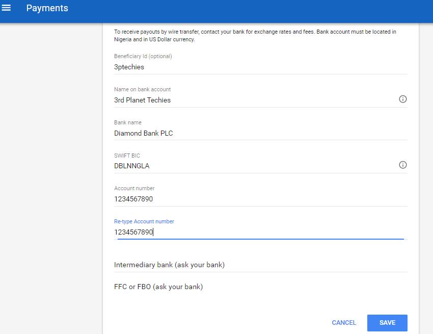 Google adsense savings account withdrawal