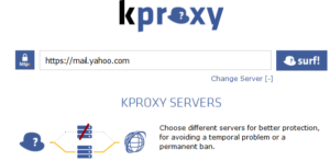 Kproxy lets you get into yahoo services