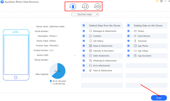 joyoshare data recovery software tutorials