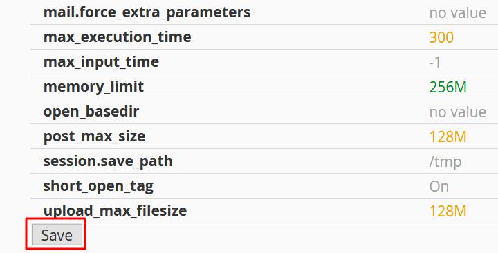change file upload values
