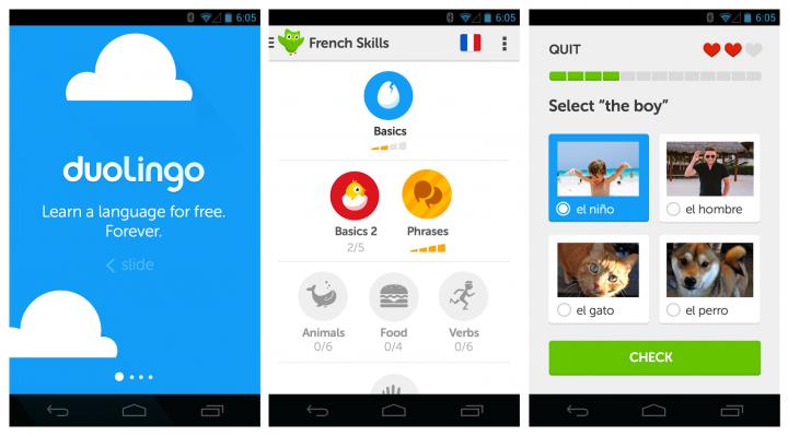 Duolingo app features