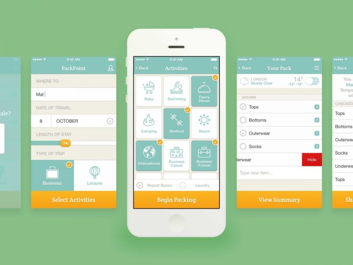 Packpoint cell phone app