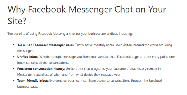 Facebook chatbox integration tutorial