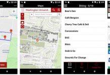 UW mobile app features