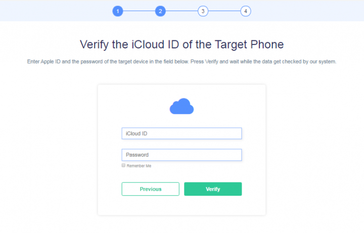 verify the iCloud account