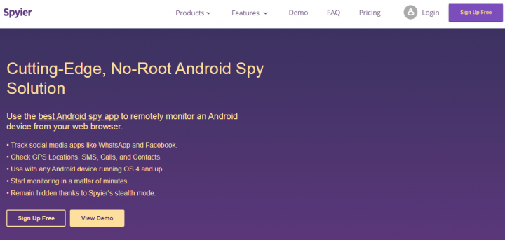 spyier android spy app review