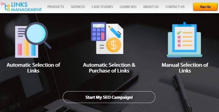 links management features
