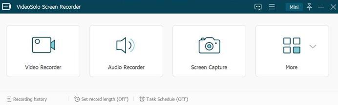 VideoSolo Screen Recorder interface