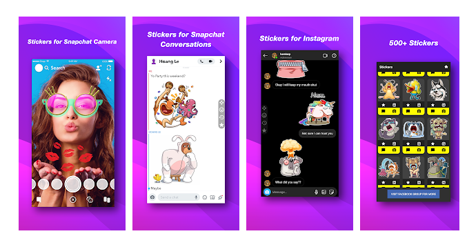 Stickers for Snapchat and Instagram