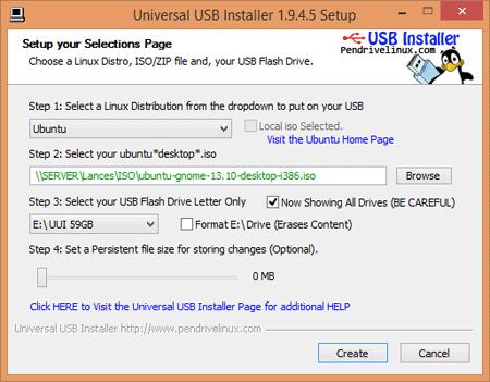 Universal USB Installer (UUI)