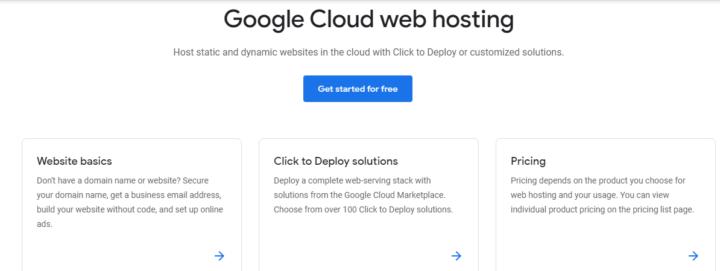 Google Cloud Web Hosting