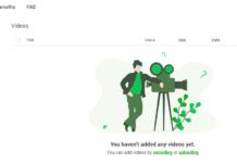 RecCloud Profile page