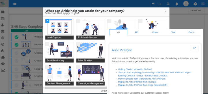 Aritic PinPoint Dashboard