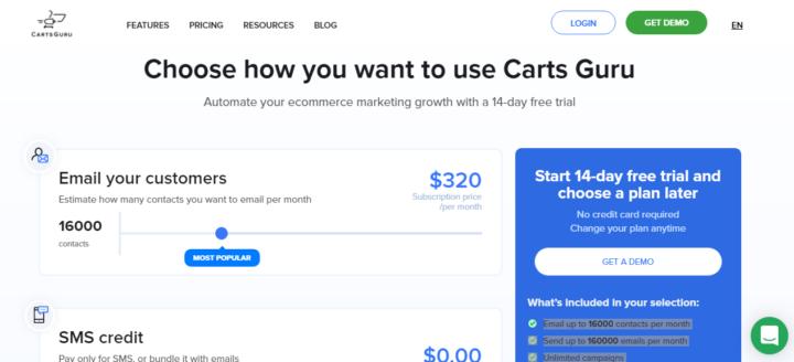 Carts Guru Pricing