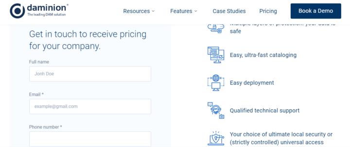 Daminion Pricing