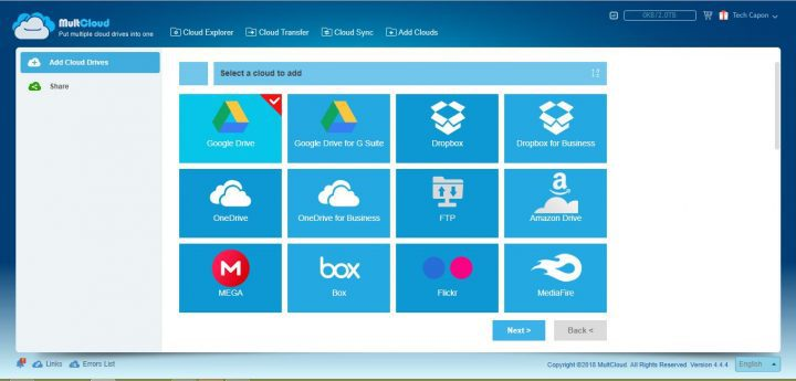 MultCloud features & Supported drives