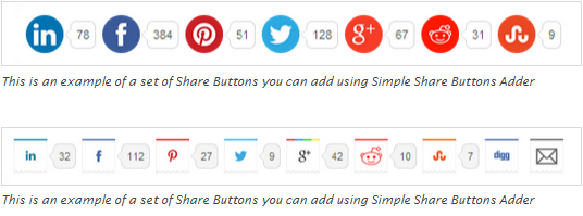 Simple Share Buttons Adder plugin for wordpress