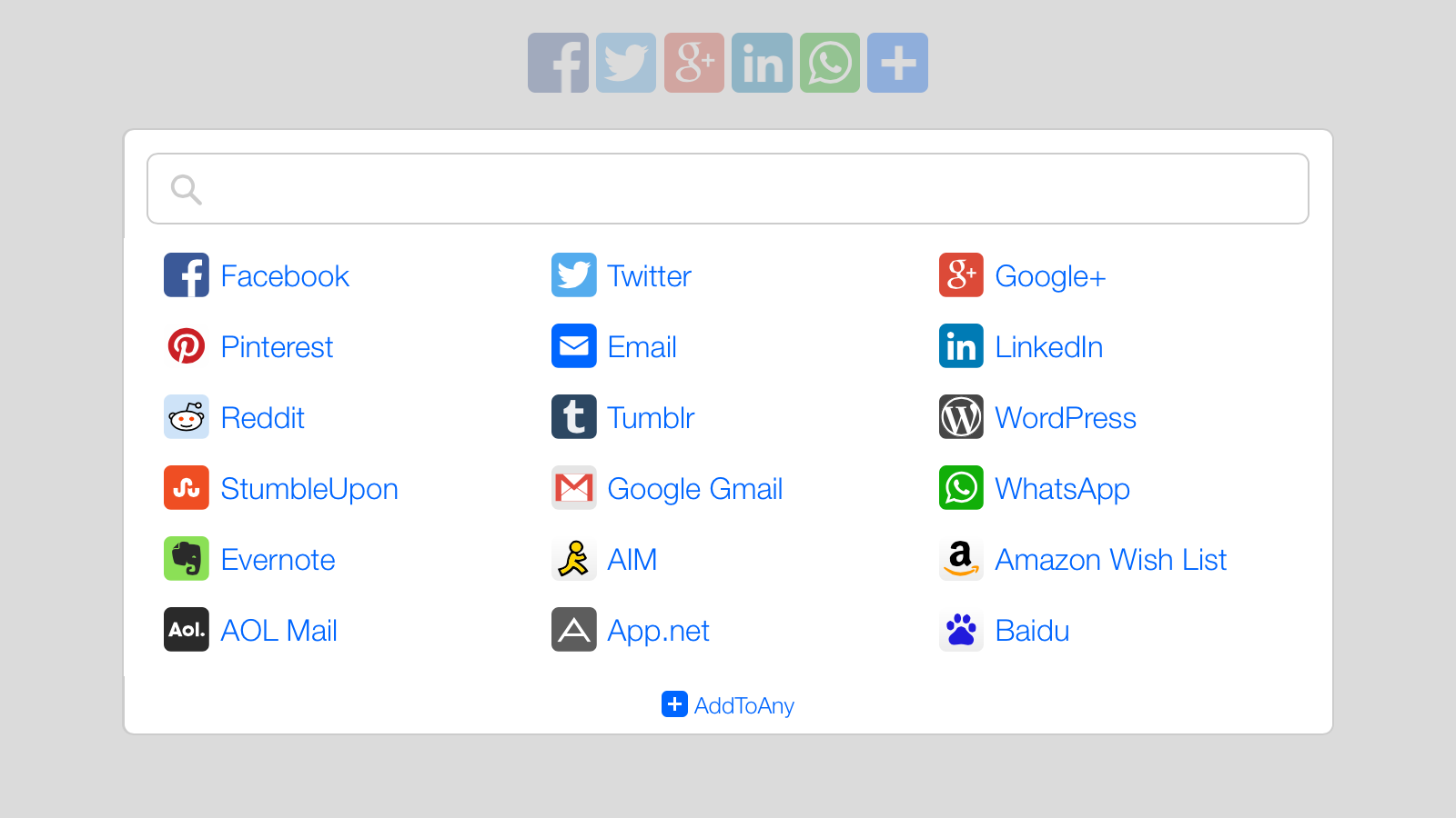addtoany social media share plugin for wordpress