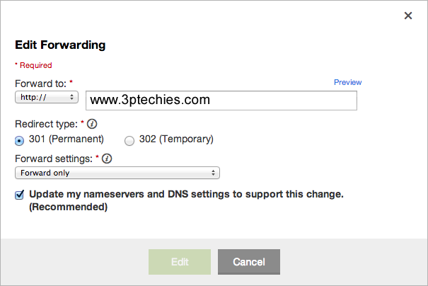 how to Map a Custom Domain Name to SquareSpace