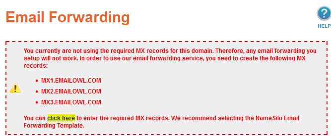 namesilo custom domain email setup guide