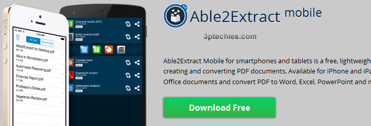 mobile app to convert PDF to word