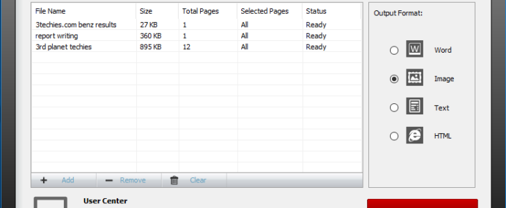 UniPDF free pdf to word converter software